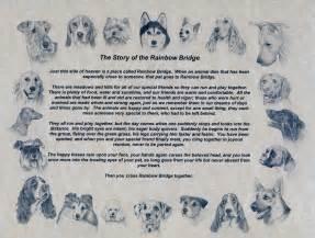 Pet Memorial Rainbow Bridge Poem