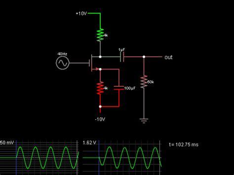 Common Source Amplifier Circuit Simulator