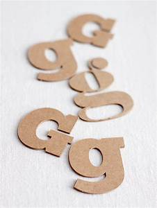 how to make custom quotchipboardquot letters With chipboard letters