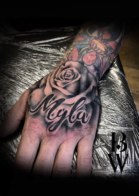 rose hand tattoo mens tattoo childs   beth