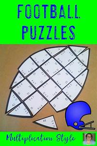 Football Math Centers  Multiplication Puzzles