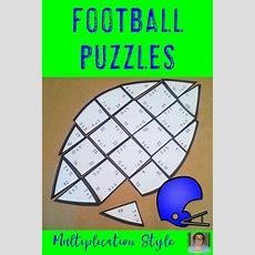 Multiplication Football Fact Games  Fun Sports Theme Math Classroom Supplement  Best Of Third