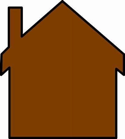Clipart Hut Colonial Clip Brown Clker Cliparts