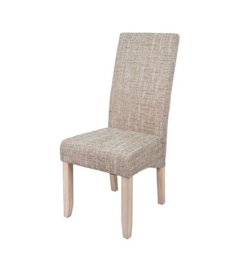 chaises tissus chaise tissus quot tom quot beige tidy home