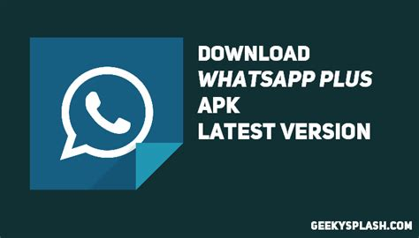whatsapp plus apk version for android