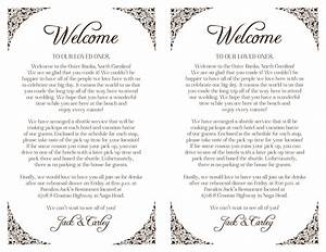 custom wedding welcome letter floral border printable diy With wedding welcome letter