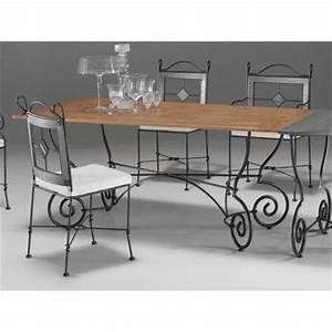 Table Bois Et Fer : table a manger fer forge et bois ~ Premium-room.com Idées de Décoration