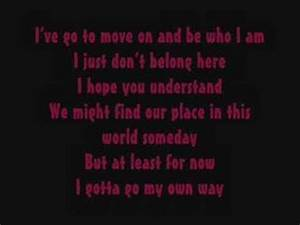 Vanessa Anne Hudgens - Gotta Go My Own Way Lyrics