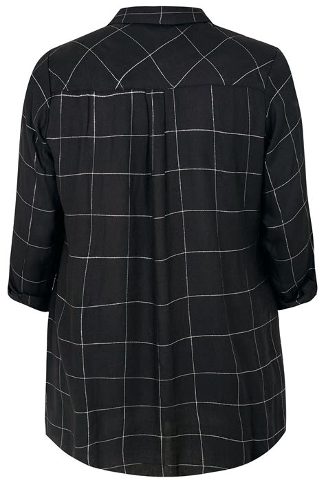Date Post Jenny Template Responsive by Black Check Print Boyfriend Shirt With Metallic Thread