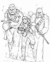 Leia Hoth sketch template