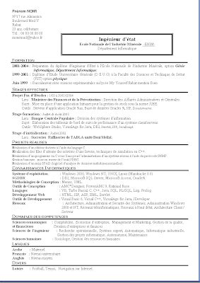 Modèle Cv à Télécharger by Exemple De Cv 233 Tudiant Ing 233 Nieur Informatique Sle Resume