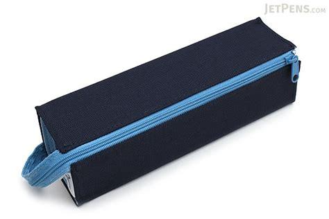 kokuyo  tray type pencil case navy light blue