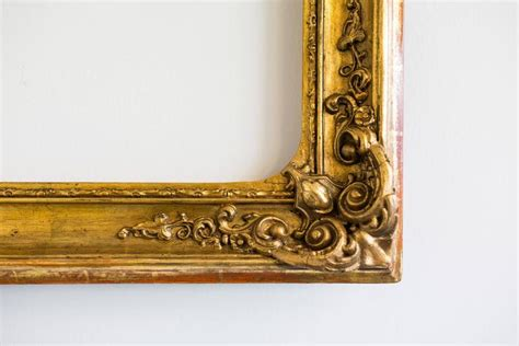 Large Gilded Baroque Picture Frame Austria Circa 1840
