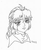 Sad Coloring Anime Pages Face Sheets Drawing Line Crying Colouring Printable Puppy Getdrawings Getcolorings Freecoloringpages sketch template