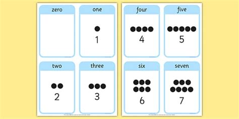 number flashcards maths resource twinkl