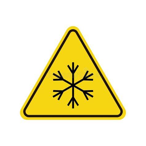 segnale mobile di pericolo segnale di pericolo della neve illustrazione di stock