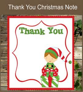 10 christmas thank you notes free sle exle format download free premium templates