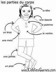 French Body Parts Coloring Pages Printable