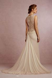 champagne lace beach wedding dress naf dresses With champagne vintage wedding dress