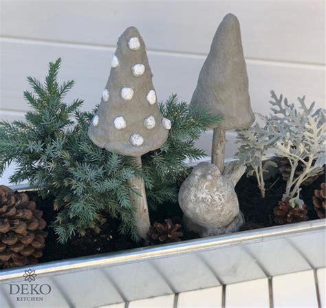 Herbstdeko Fenster Diy diy herbstdeko mit pilzen aus knetbeton deko kitchen