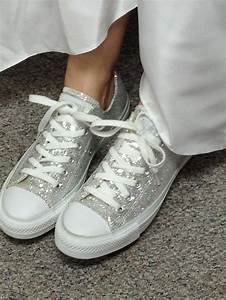 sparkly converse with wedding dress converse With wedding dress with sneakers