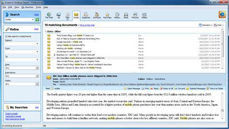 Copernic Desktop Search Professional File Management Software