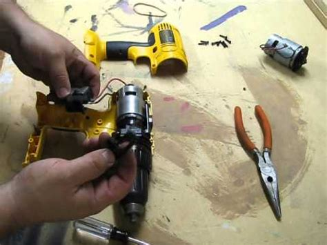 dewalt  drill motor replacement dewalt dc youtube