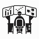 Data Icon Operator Computer Analyst Analysis Monitoring