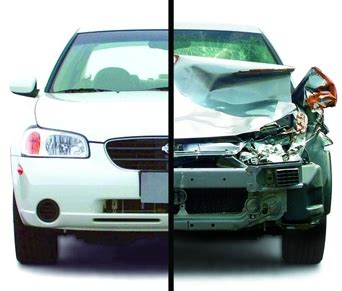 wrecked car before and after collision repair issues illinois