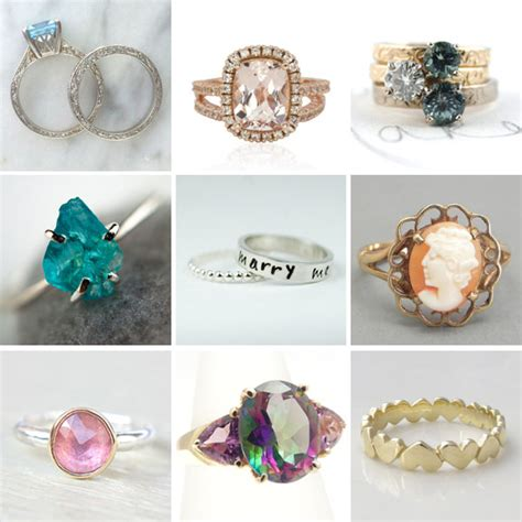 25 non diamond engagement rings 183 rock n roll bride