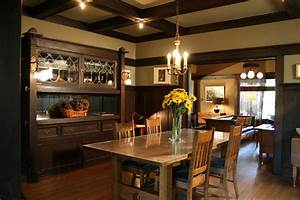 1908 Arts & Crafts dining room with built in buffet and