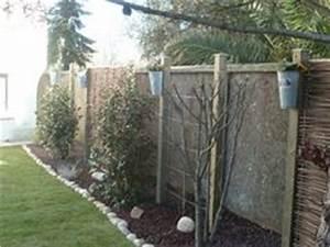 cacher un mur en parpaing variegata paysage jardin With photos terrasses et jardins 18 clatures de jardin en 59 idees captivantes