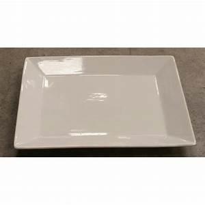 Assiette Rectangulaire Blanche : assiette plate rectangulaire blanche eurotex ~ Teatrodelosmanantiales.com Idées de Décoration
