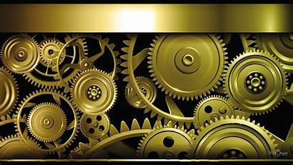 Steampunk Background Desktop Gears Gold Wallpapers Abstract