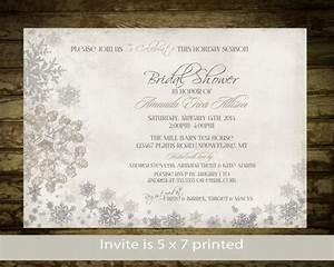 winter bridal shower invitation snowflakes bridal shower With winter wedding shower invitations
