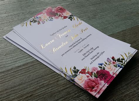 foil printed wedding invitations  zealand silver gold