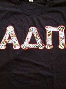 ronald mcdonald letters and stitches on pinterest With pi kappa alpha stitched letters