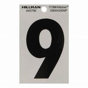 shop hillman 39 in reflective house number 9 at lowescom With reflective house numbers and letters