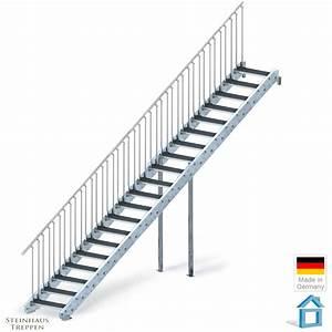 Treppe 3 Stufen Aussen : au entreppe stahl mit 20 stahlstufen f r h hen bis max 400 cm steinhaus treppen treppen ~ Frokenaadalensverden.com Haus und Dekorationen