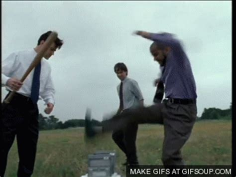 Office Space Smashing Printer by As A New I Find Myself Doing This To Help My