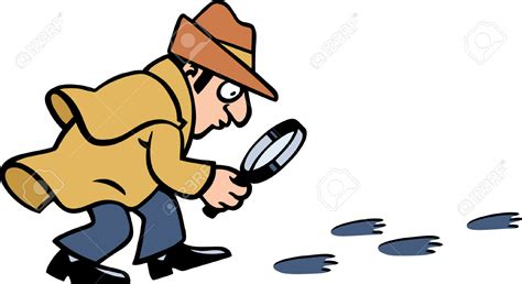 Detective Clip Footprint Clipart Detective Pencil And In Color