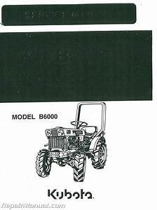 Kubota B6000 Dsl Tractor Service Manual