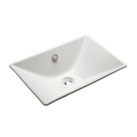 kohler vessel sink faucets kohler reve fireclay vessel sink in white with overflow