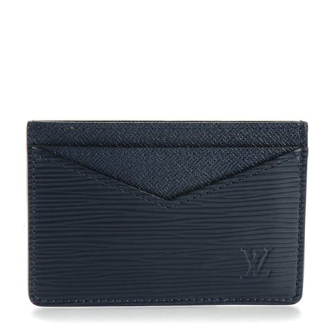 louis vuitton epi neo porte cartes card holder navy blue 148129