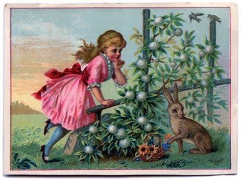 victorian graphic  girl  rabbit  graphics