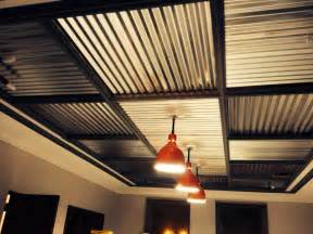 Ceiling Material For Garage by Restored Barn Lights With Corrugated Metal Ceiling Our
