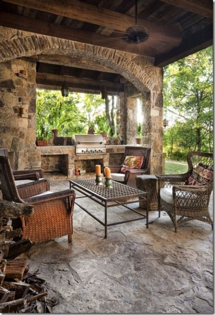 covered outdoor grill area 95 cool outdoor kitchen designs digsdigs