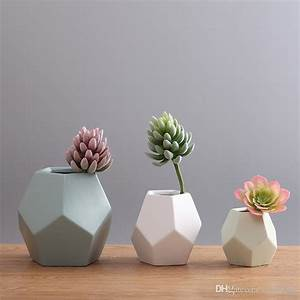 Mirror Flat Flower Pots Planters Hot Sale Flower Vases Ceramic Pots Decorative Vases Wedding
