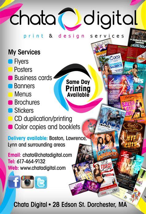 Chata Digital Printing Flyer By Deitydesignz On Deviantart