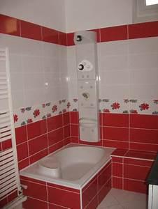 Decoration salle de bain rouge et blanc for Salle de bain en rouge et blanc